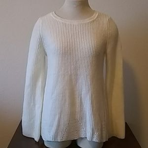 Cable & Gauge White Knit Sweater (M)